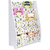 COOFOK Kids Bookshelf, Book Toy Rack Storage Organizer 2 Packs Foldable  Cube Bins (White
