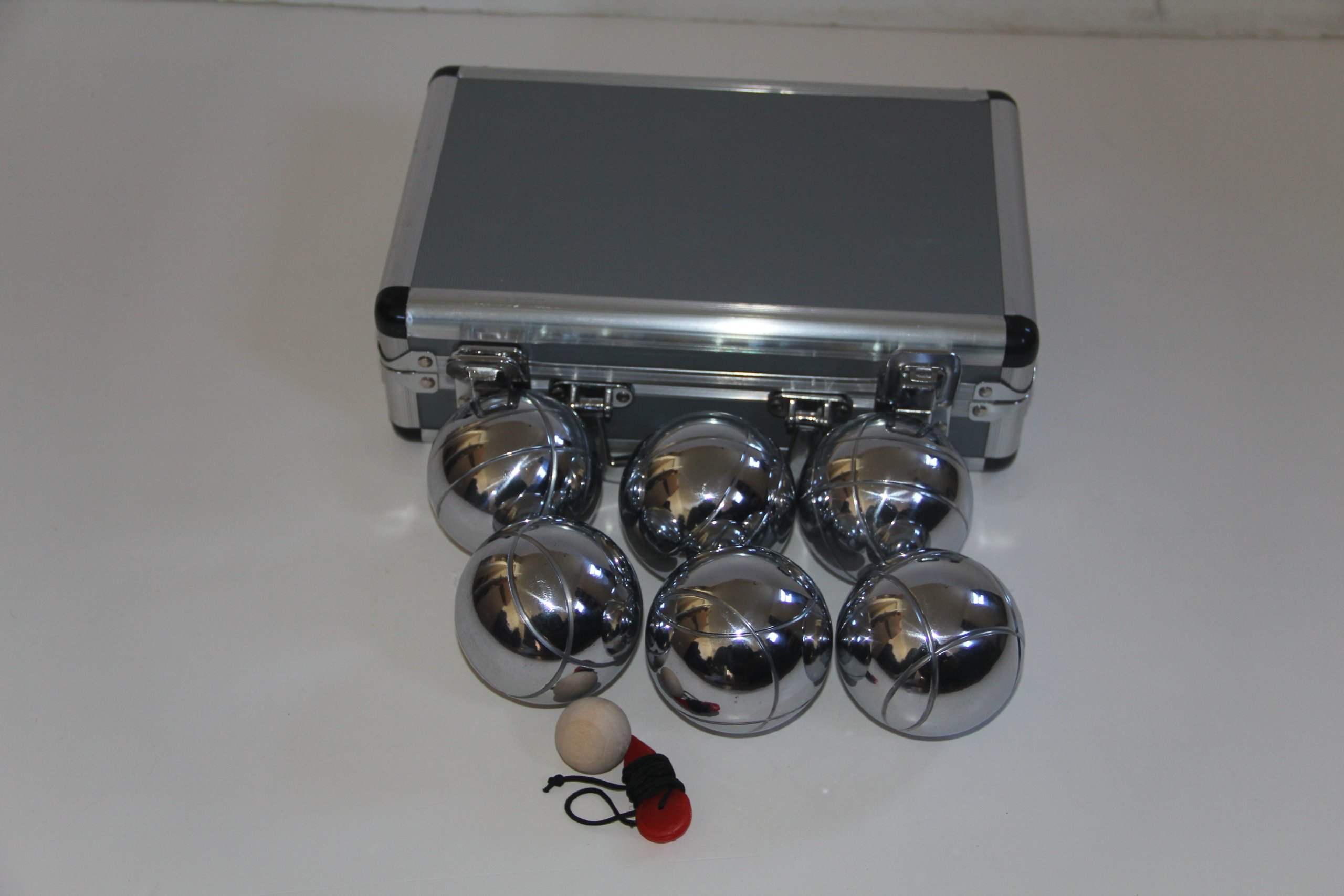 73mm Metal Petanque Set with 6 Silver Balls and Metal Case by BuyBocceBalls