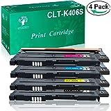 GREENSKY 4 Paquetes Cartucho de tóner compartible de reemplazo para Samsung CLT-406S CLT-K406S CLT-C406S CLT-Y406S CLT-M406S para Samsung CLP-360 CLP-360N CLP-365 CLP-365W SL-C410W CLX-3305 CLX-3305N