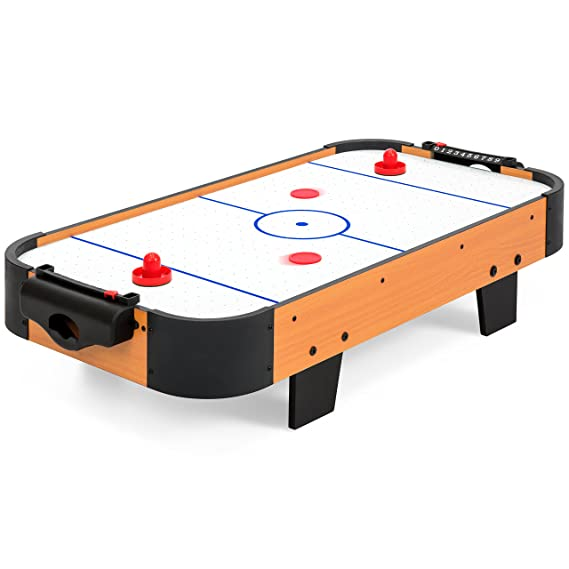 Review Best Choice Products 40in Air Hockey Table w/Electric Fan Motor, 2 Sticks, 2 Pucks - Multicolor