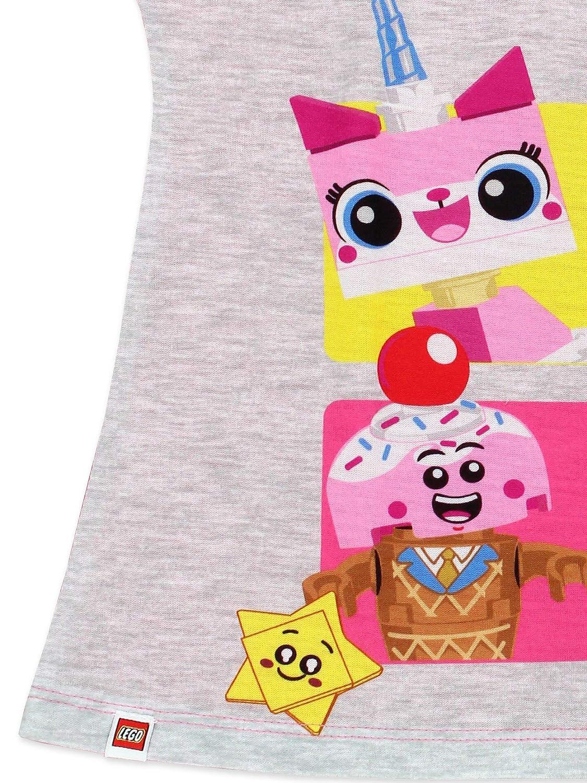 Lego Movie 2 The Second Part 2 Piece Girls Short Sleeve Tee Shorts Pajamas Set
