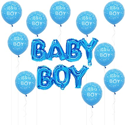 Baby Boy Balloons Blue 9 Inch