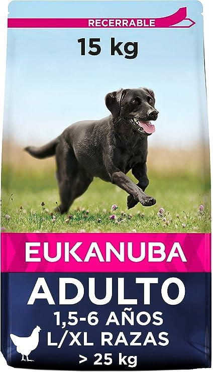 Oferta amazon: Eukanuba Alimento seco para perros adultos de razas grandes con pollo 15 kg
