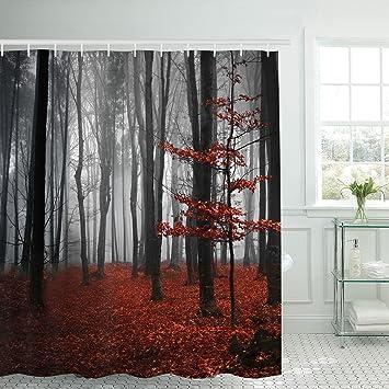 Modernes timesm Badezimmer Dusche Vorhang Mystic Forest Badezimmer ...