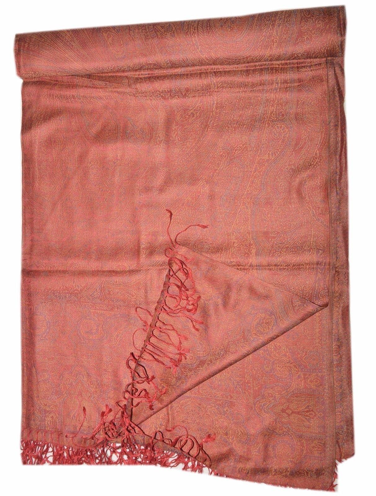Pashmina Blanket Throw Reversible India Bedding King SL890