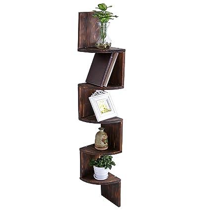 Amazon MyGift Wall Mount Wood Corner Shelves 40 Tier Storage Gorgeous Dark Wood Corner Shelves