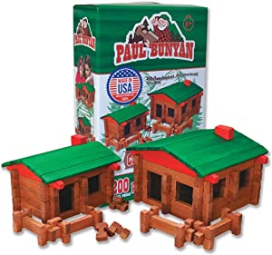 ROY TOY Paul Bunyan 200 pc. Deluxe Log Building Set, Made in The USA!