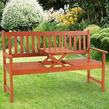 Interessant Amazon.de: Gartenbank Picknick Tisch Holzbank Gartenmöbel Sitzbank  AI91