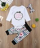 Baby Girls Little Sister Bodysuit Tops Floral Pants