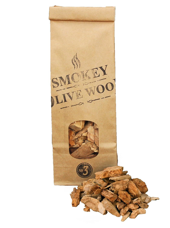 Taille Grande 2cm Smokey Olive Wood 500mL de copeaux de Bois dolivier 3cm