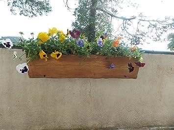 jardinera orinoco jardinera rstica imitacin madera para colgar en balcn soporte pequeo
