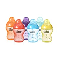Tommee Tippee Closer to Nature Botella fiesta, 256 ml (9oz), 6 piezas