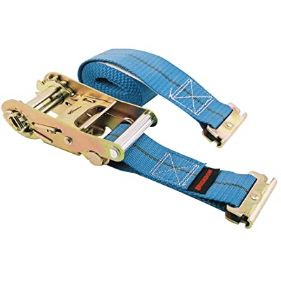 "Erickson 59139 Blue 2"" x 16' Ratcheting E-Track Logistic Strap, 3500 lb Load Capacity: Automotive"