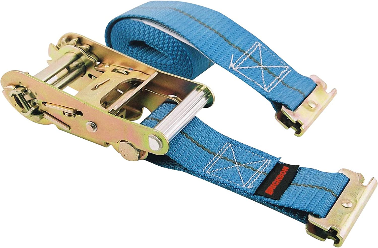 3500 lb Load Capacity Erickson 59139 Blue 2 x 16 Ratcheting E-Track Logistic Strap