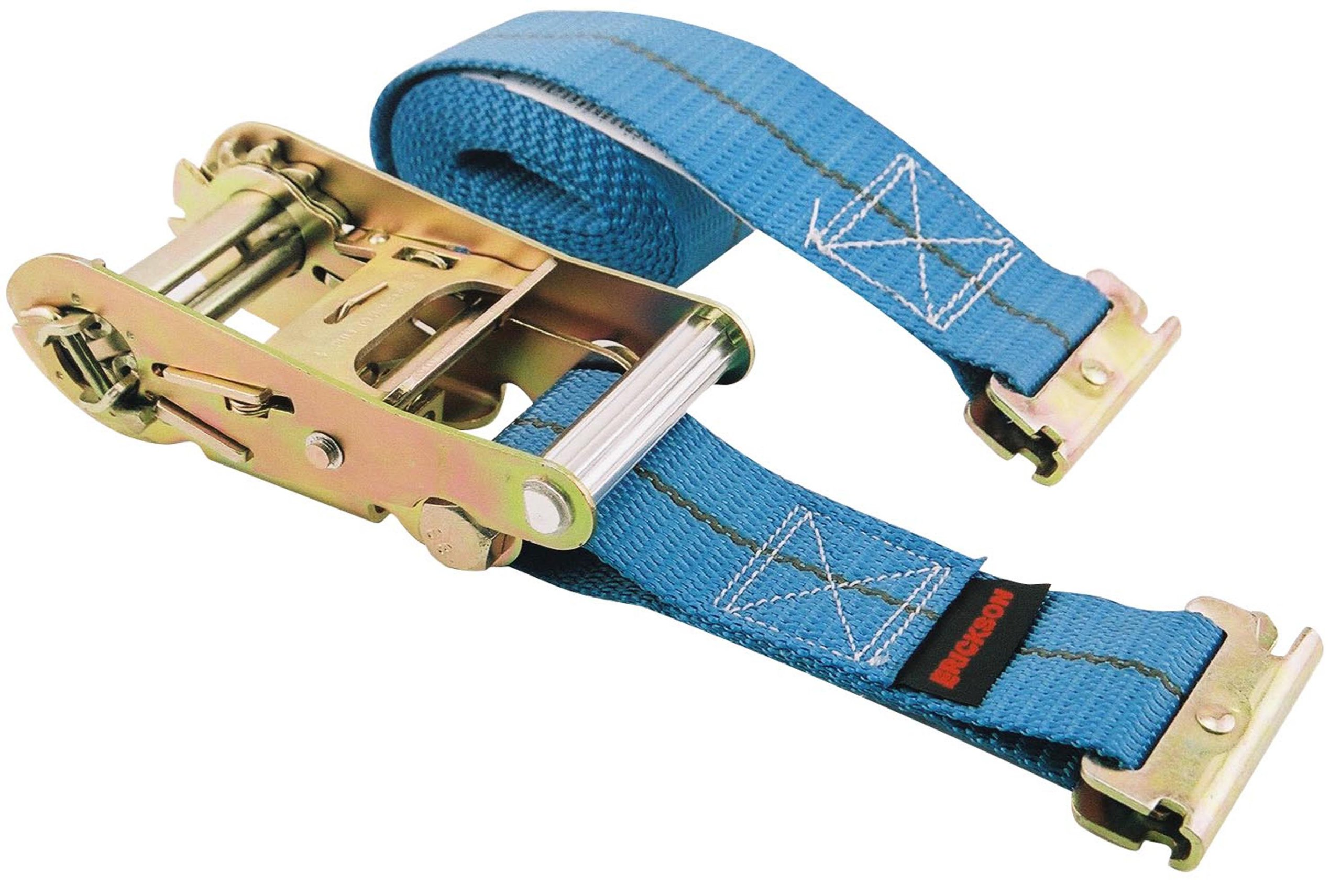 Erickson 59136 Blue 2'' x 12' Ratcheting E-Track Logistic Strap by Erickson (Image #1)
