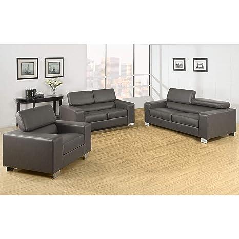 Amazon.com: Muebles de América mazri Juego de sofá de piel ...
