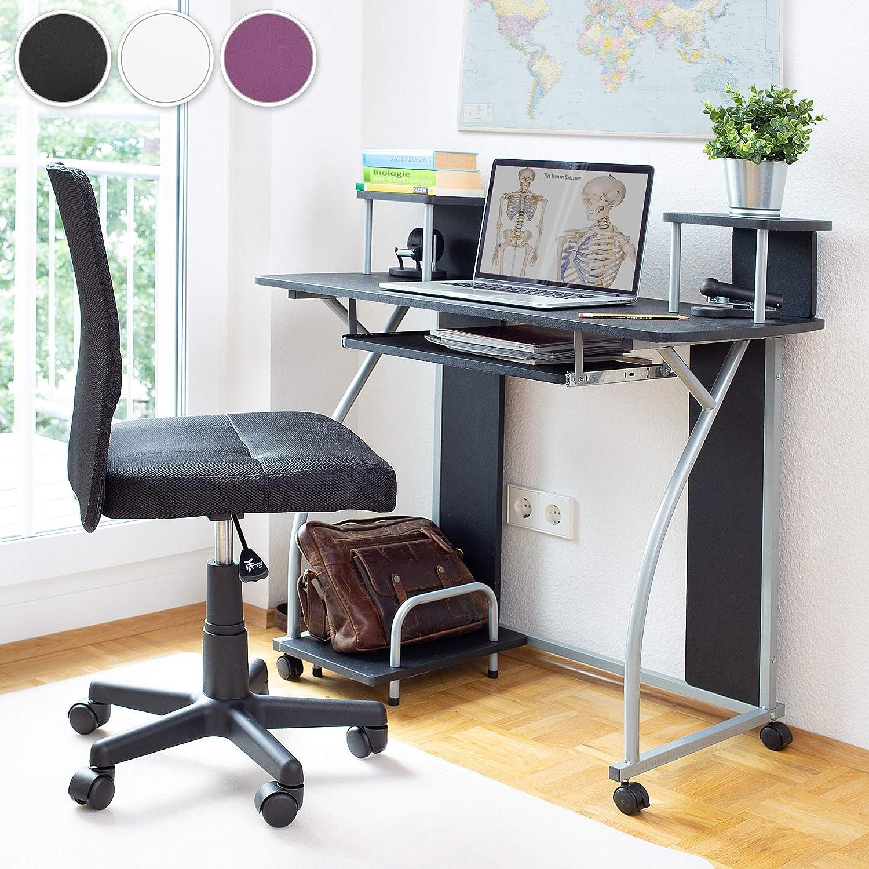 TecTake Mesa de Ordenador de Escritorio Juvenil Estudiante PC Trabajo Muebles | Púrpura: Amazon.es: Hogar