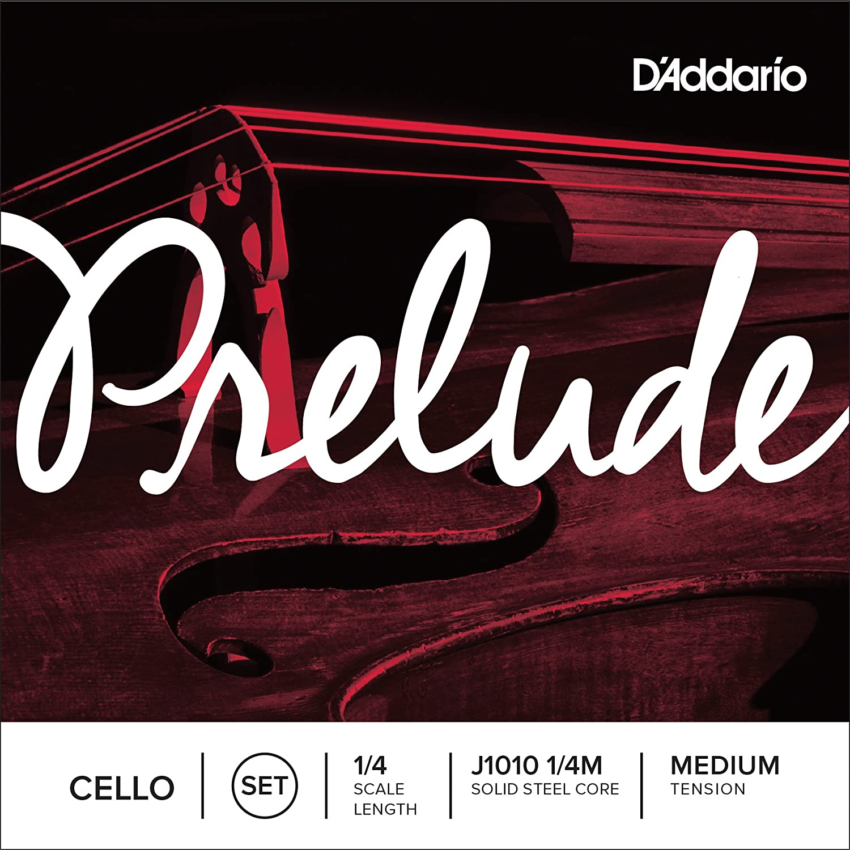 D'Addario Prelude Cello String Set, 4/4 Scale, Medium Tension D'Addario J1010 4/4M