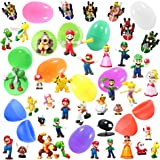 8 Plastic Easter Eggs with Mario Figures - Perfect For Kids - Find Your Favorite Mario Characters - Ready To Hide, Hunt and Enjoy - Durable Eggs in Assorted Colors - Perfect For Hours of Creative Play