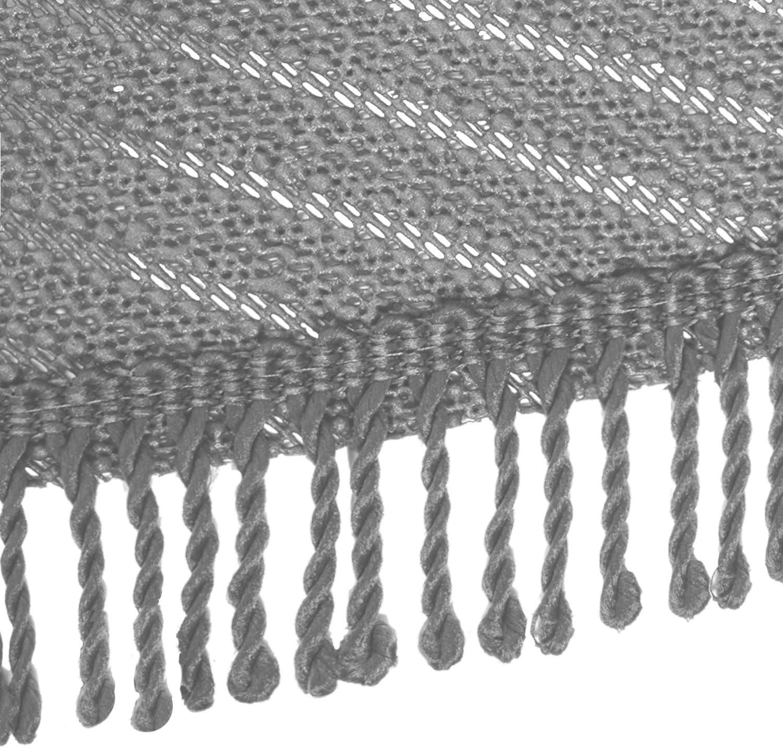 Brandsseller Allaperto Tovaglia da Giardino Resistente alle intemperie e Antiscivolo per Giardino Balcone e Campeggio Rettangolare 110x140 cm Grigio Chiaro