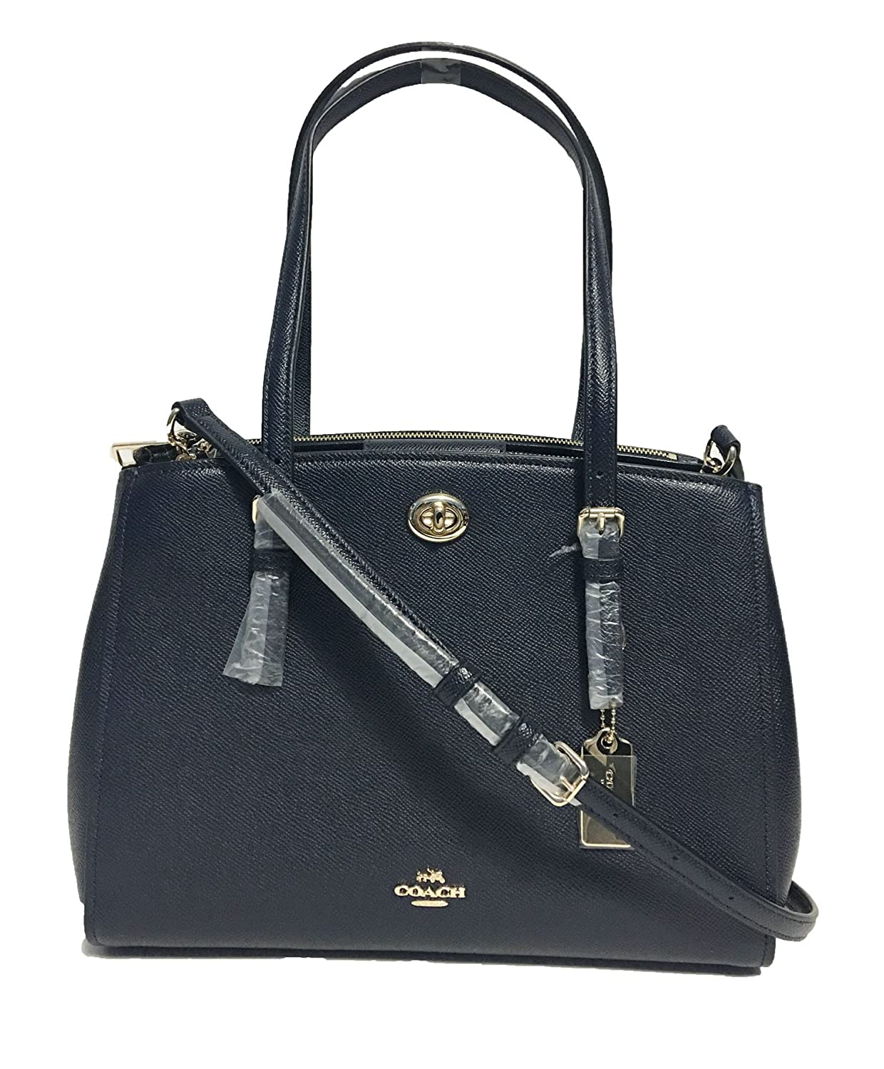 40187300ebc8 Coach Turnlock Carryall 29 in Crossgrain Leather Style No. 37782 (Navy)   Handbags  Amazon.com