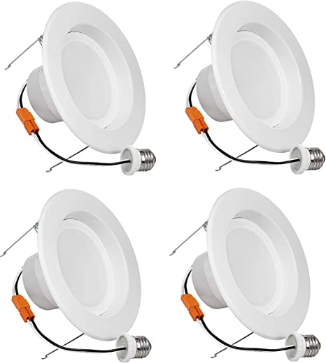 LED Ceiling Light 13W Retrofit LED Recessed Lighting Fixture 3000K Soft White 100W Replacement 4-Pack 1050Lm SGL 6 Inch Dimmable LED Downlight