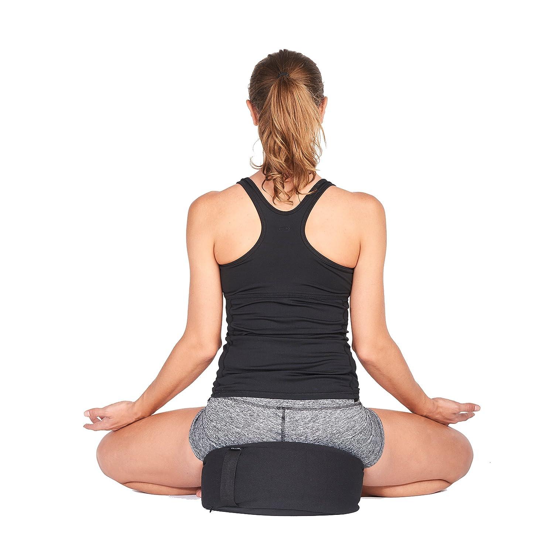 Incline Fit Zafu Yoga Meditation Cushion with Zipper