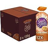 Snack A Jacks Rijstwafel Caramel, Doos 8 stuks x 159 g