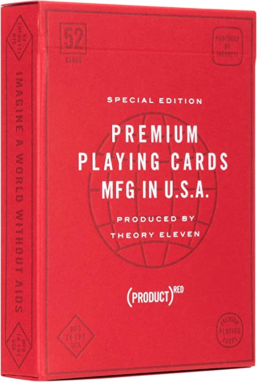 Amazon.com: theory11 Product(RED) Special Edition Playing Cards (Product-RED-V2): Sports & Outdoors