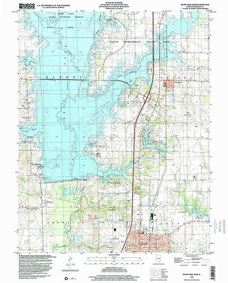 Rend Lake Illinois Map.Amazon Com Yellowmaps Rend Lake Dam Il Topo Map 1 24000 Scale