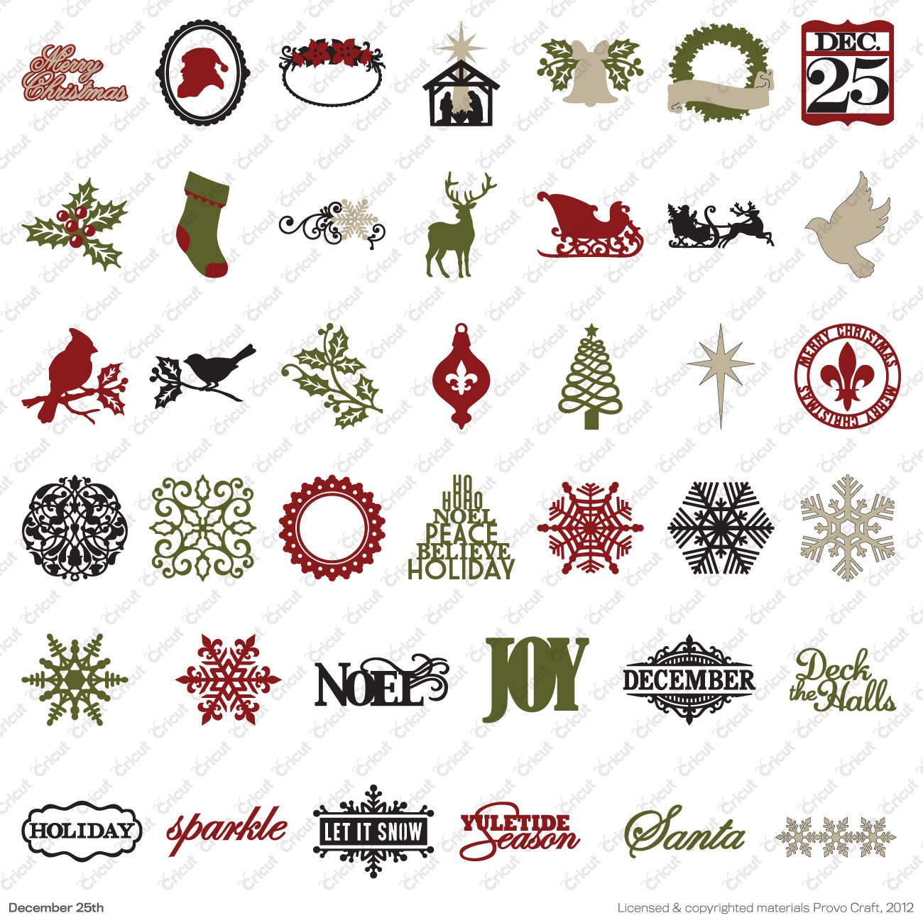 Amazon.com: Cricut Seasonal Cartridge, December 25th : a quilted christmas cricut cartridge - Adamdwight.com