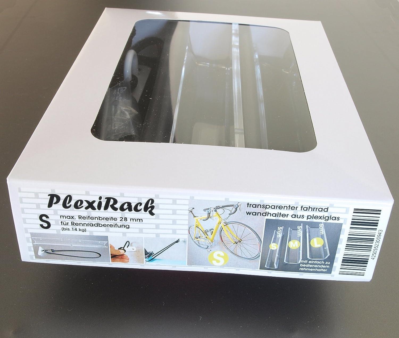 PlexiRack S Transparenter Wandhalter f/ür Rennrad