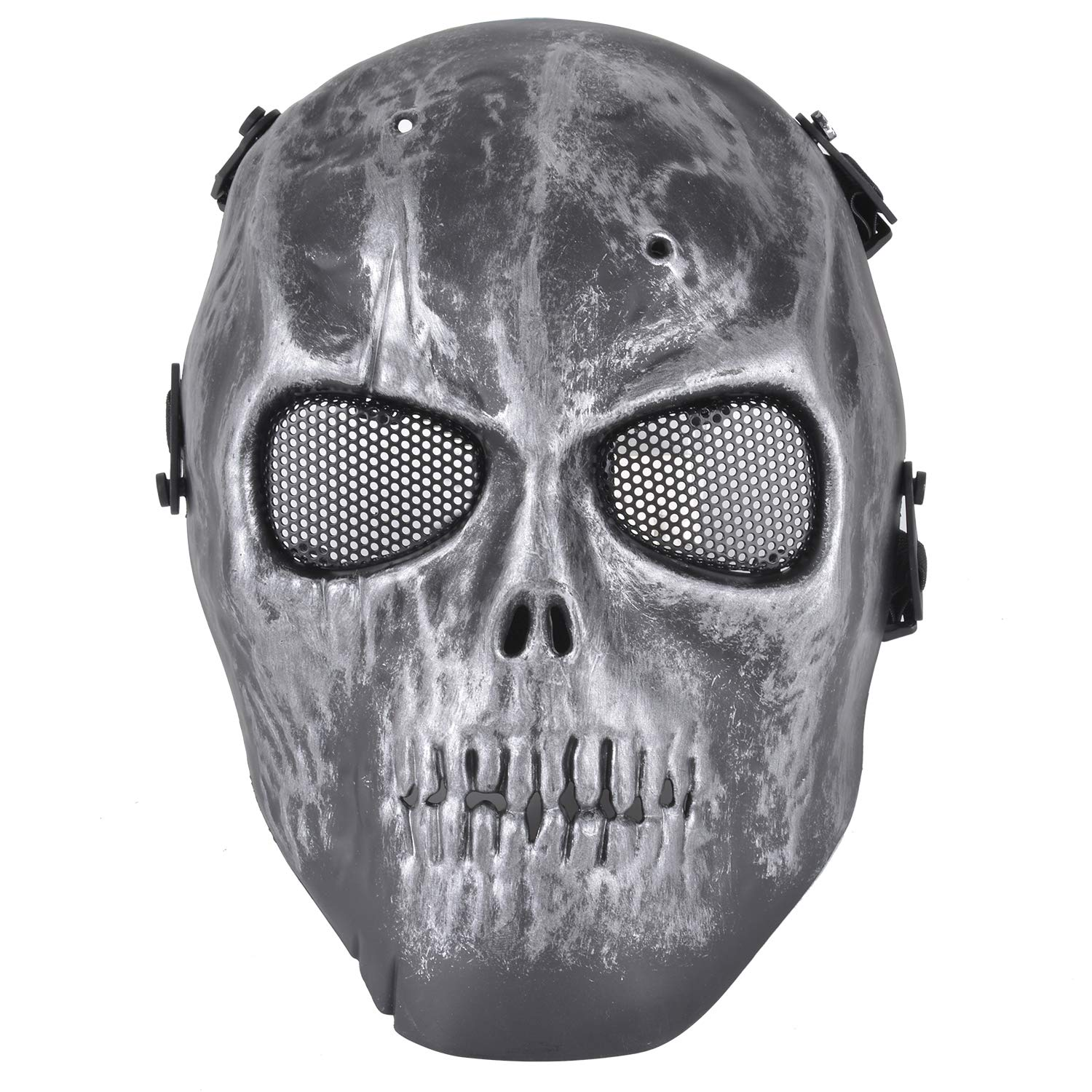 Fansport Halloween Costure Skull Skeleton Mask with Hooded  cloak