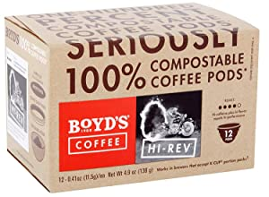 Boyd's Coffee Hi-Rev Medium-Dark roast single serve pods (36 Count)