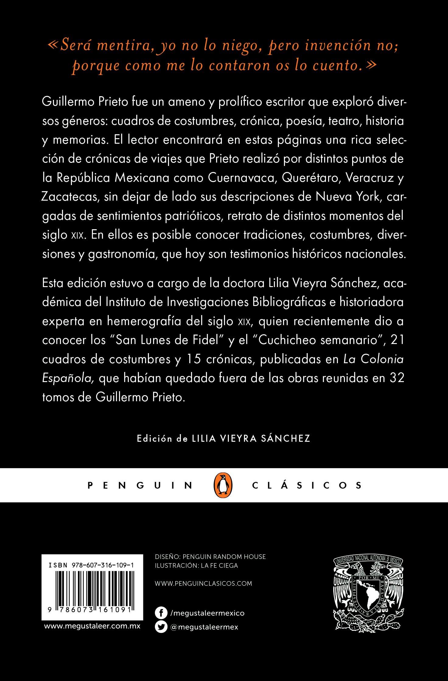 Vida cotidiana y cronicas viajeras: Guillermo Prieto: 9786073161091: Amazon.com: Books