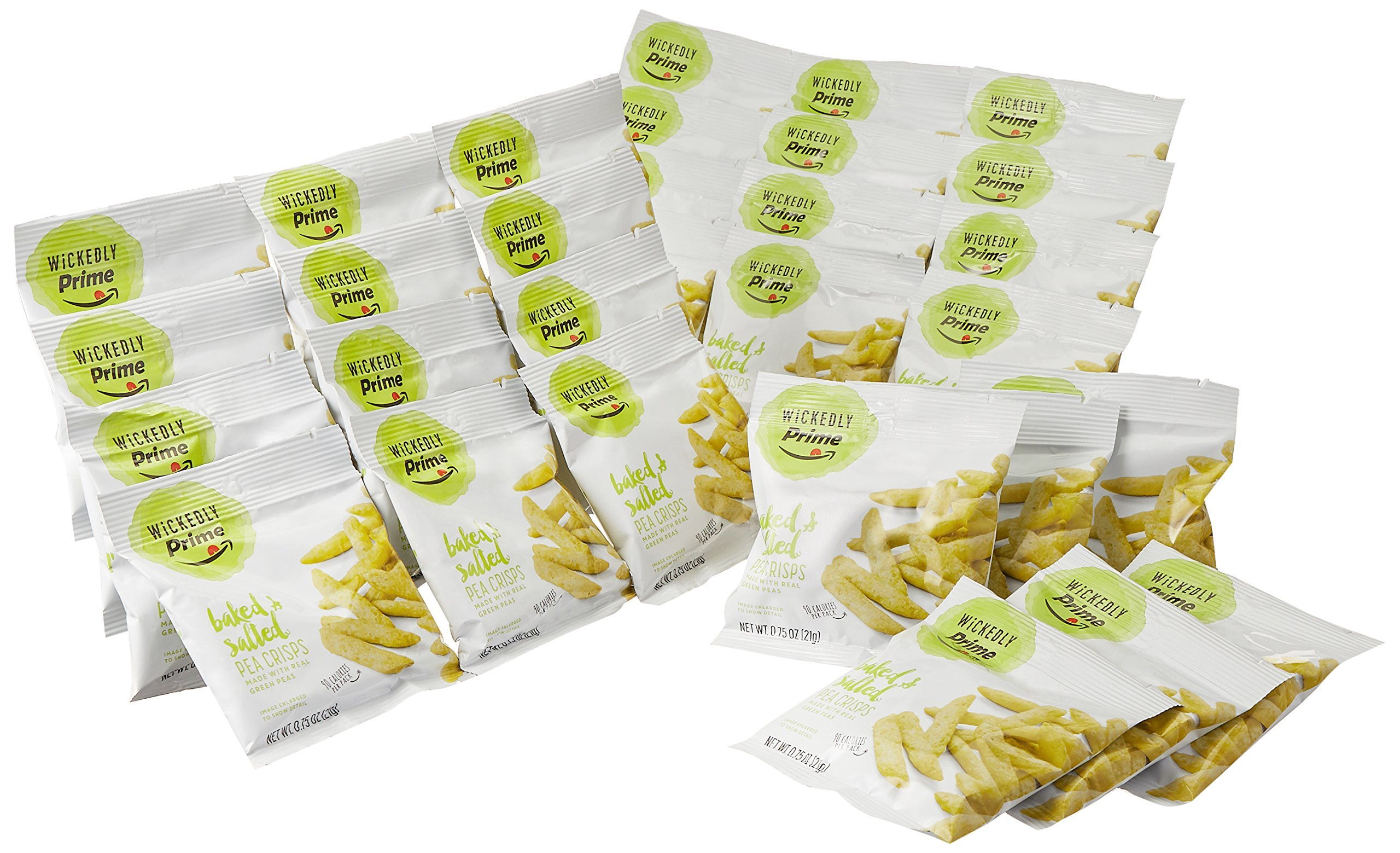 Wickedly Prime Pea Crisps, Snack Pack, 0.75 Ounce (Pack of 30) by Wickedly Prime