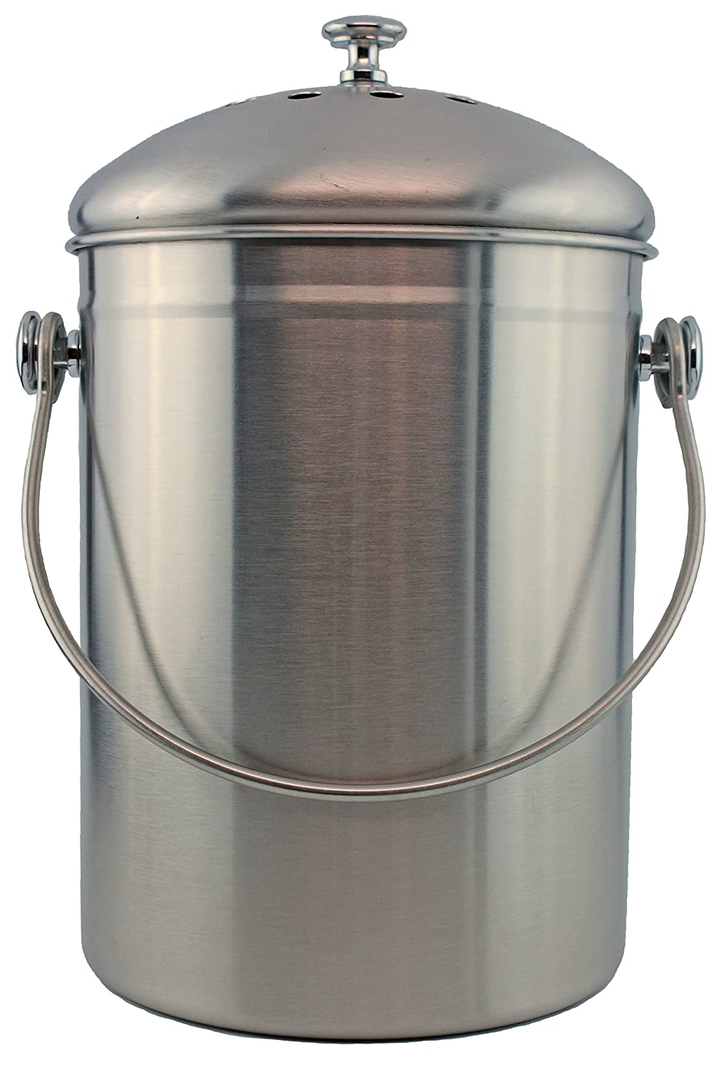 Amazon.com : Stainless Steel 1 Gallon Compost Pail With Filter (Stainless)  : Garden U0026 Outdoor