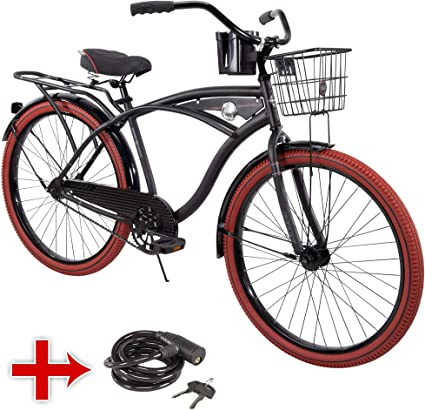 "Huffy Cruiser Bike 26"" Blue Women/'s Comfort City Beach Commuter Bicycle Shimano"