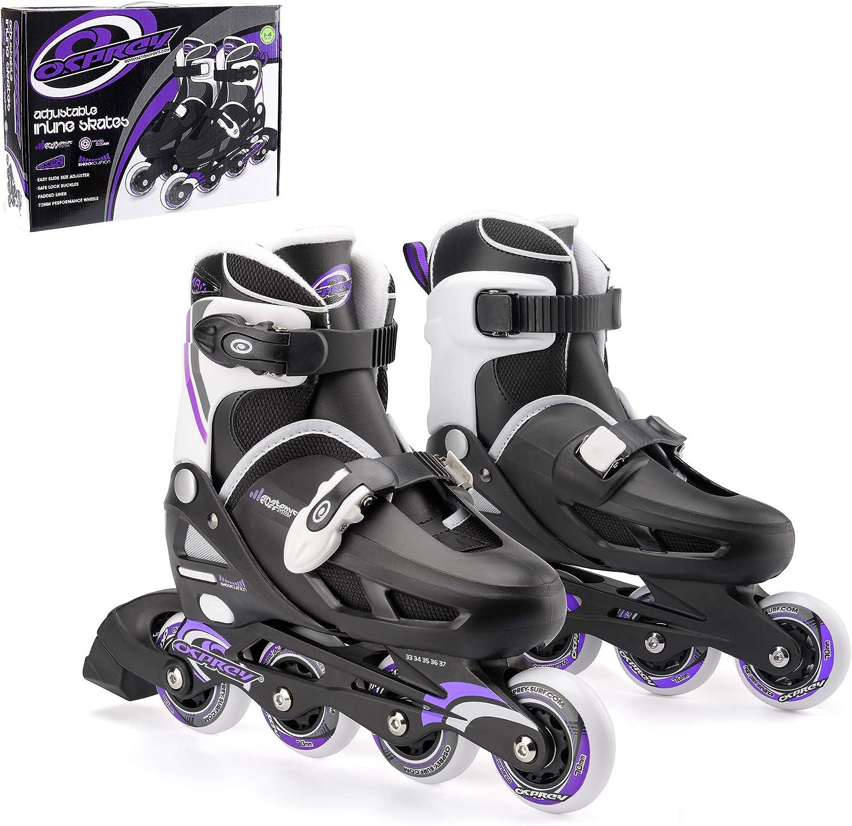 Osprey Kids Roller Blades, Adjustable Inline Skates for Boys and Girls with Safe Lock Straps / UK
