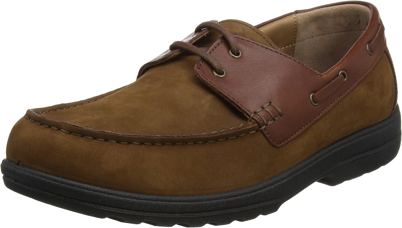 Padders - Náuticos de Piel para Hombre marrón marrón Claro