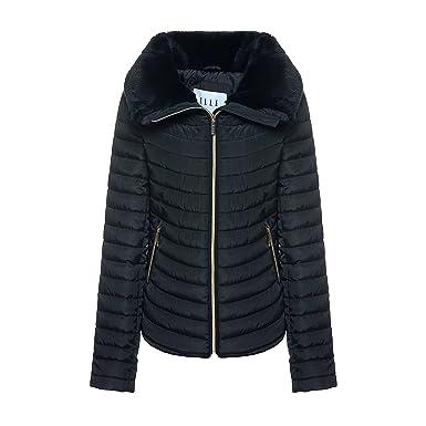 b24a9f794d3 ELLE Womens Georgia Jacket In Black Size 18 (18)  Amazon.co.uk  Clothing