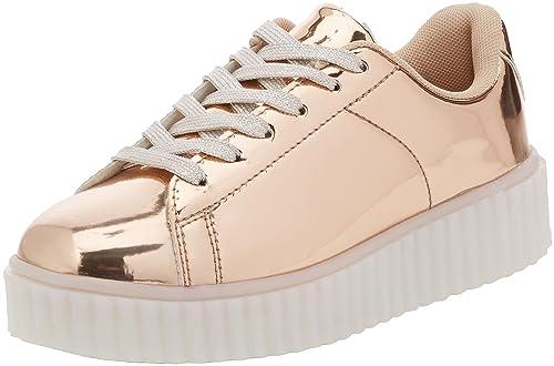 Spot On H3061, Zapatillas Chica, Dorado (Rose Gold XG4), 35 EU: Amazon.es: Zapatos y complementos