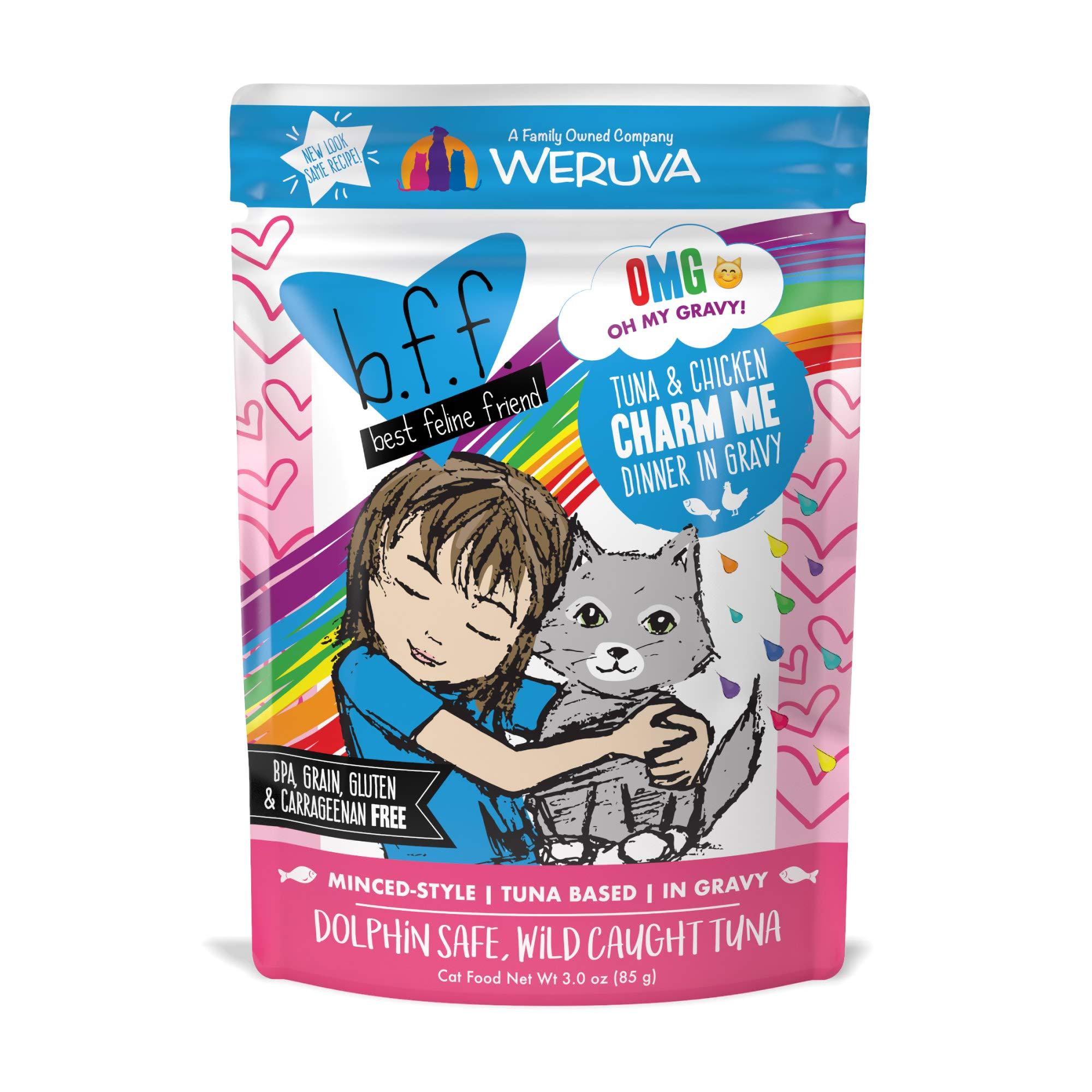 Weruva B.F.F. OMG – Best Feline Friend Oh My Gravy! Grain-Free Natural Wet Cat Food Pouches, Original Tuna Recipes in…