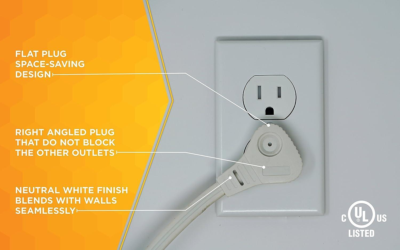 Coleman Cable Slimline 2255 Flat Plug Extension Cord 3 Wire 13 Orange Wiring Diagram Beige