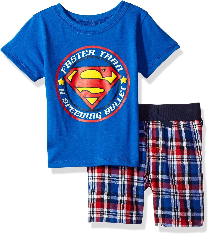 Warner Bros Superman Boys 2-Piece Short Set