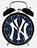 """Yankees Alarm Desk Clock 3.75"""" Room Decor W100 will Be a Nice Gift"""