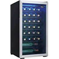 Danby DWC036A1BSSDB-6 3.3 Cu. Ft. Free Standing Wine Cooler, Holds 36 Bottles, Single Zone Fridge With Glass Door…