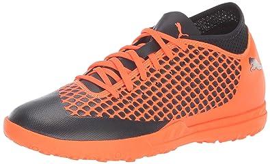 4201cbb4bb3d PUMA Men s Future 2.4 TT Soccer Shoe Black-Shocking Orange