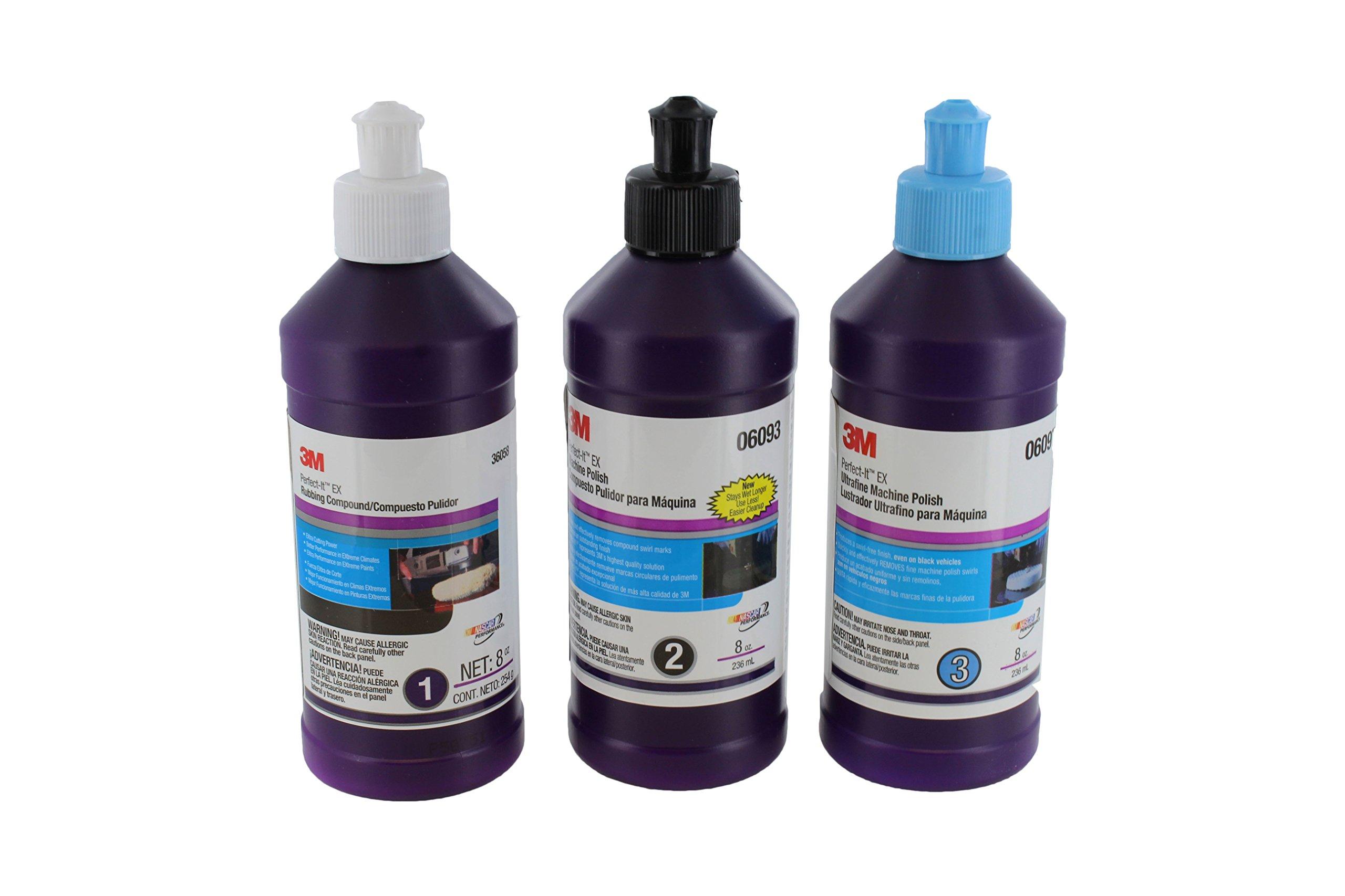 3M Perfect-It 8oz Buffing & Polishing Compound 36058, 06093, 06097 by 3M