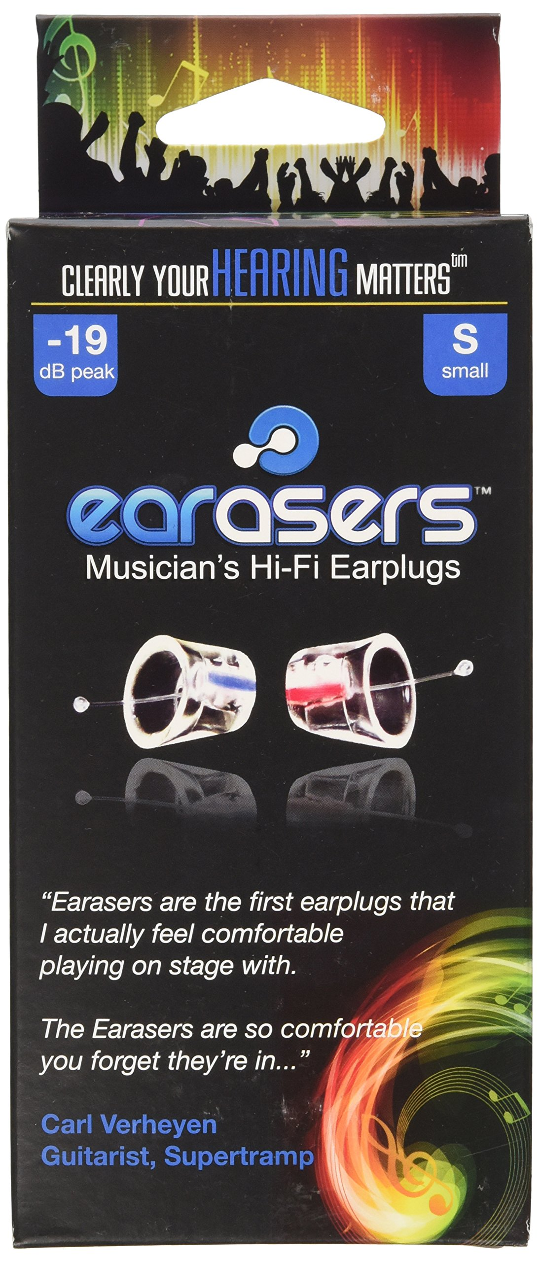 Earasers Musicians Plugs Small by Earasers